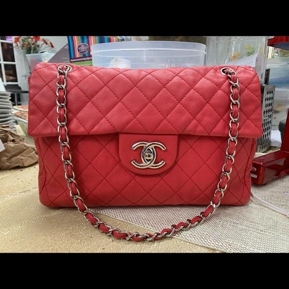 1f5deee61132fd CHANEL Bags | Washed Caviar Soft Maxi Xl Shw Flap Bag | Poshmark